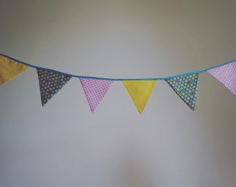 Bunting - pink, yellow, spots