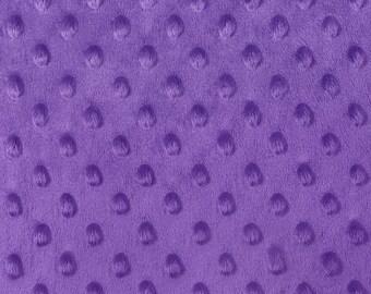 Minky Dimple Dot Fabric By The Yard Purple (W1)