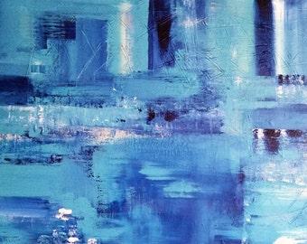 "Handmade acrylic painting ""Blue"""