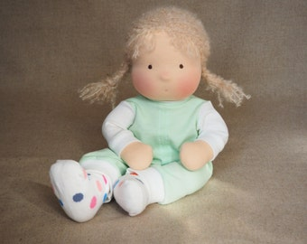 "Ready to ship Waldorf Doll Handmade Baby 15"" inches 40 cm"