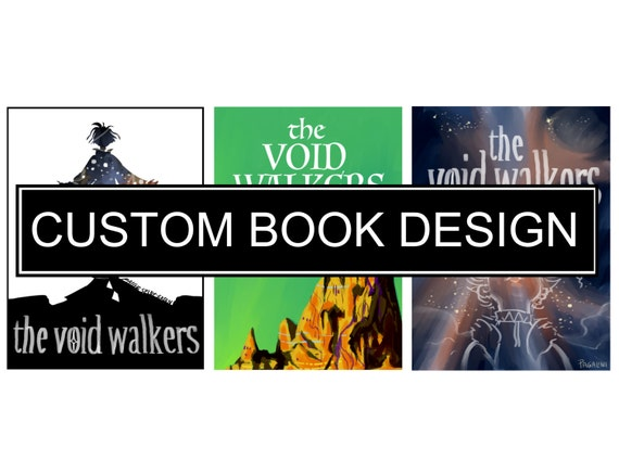 Illustrated Book Cover Zone : Custom illustrated book cover design by pagalini on etsy