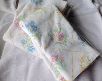 Set of vintage pillowcases