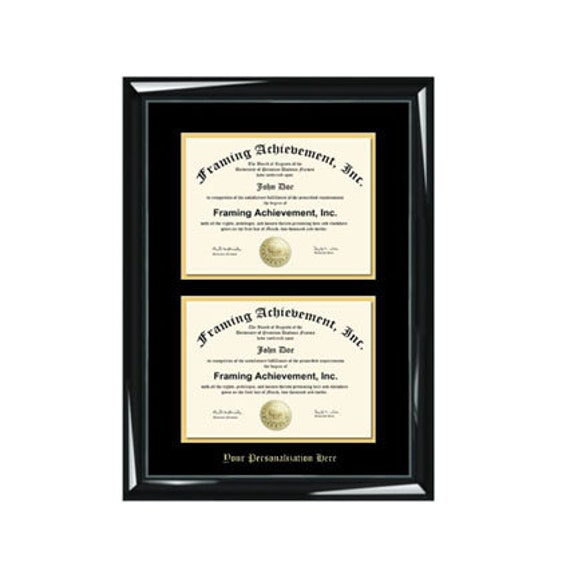 Dual Diploma Frame Double Certificate Frames Embossed Two