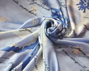 "Handmade scarf ""Aquarium"" (100% Silk)"