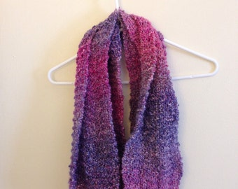 Pink and purple infinity scarf