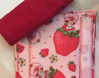 Strawberry Shortcake Infant/Toddler Car Seat Strap Covers - Reversible