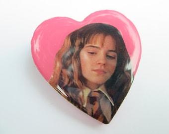 Hermione Granger (Emma Watson) Heart Pin // Harry Potter