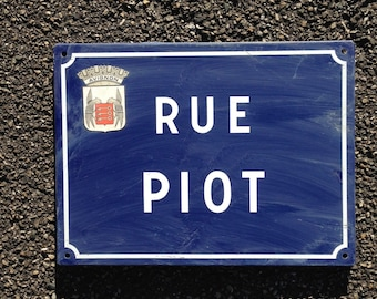 French Street Enamel Sign Plaque - RARE FROM AVIGNON metal Piot