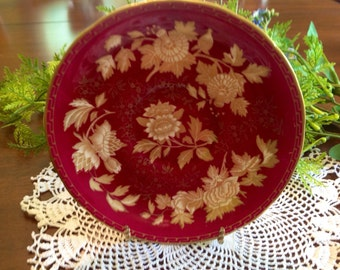 Tonquin Ruby by Wedgwood orphan saucer.