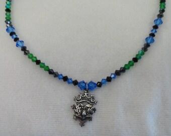 Scottish Tartan Crystal Necklace