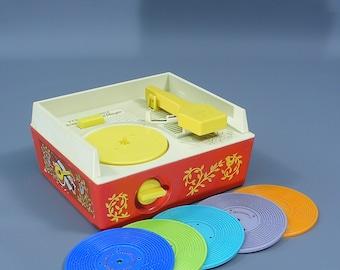 Original Vintage Fisher Price Record Player 1970's