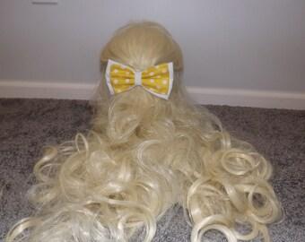 Yellow Polkadot Bow