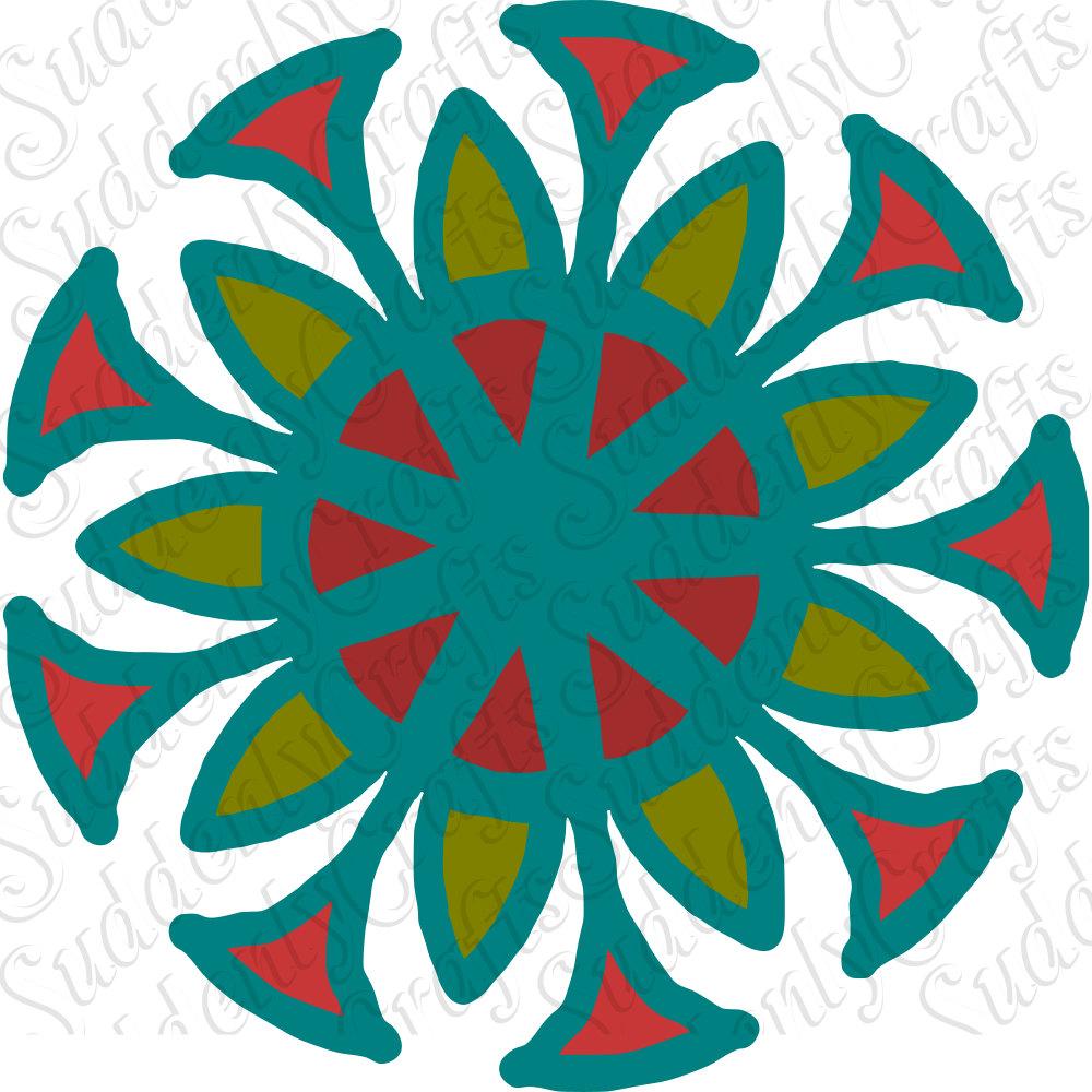 Flower Mandala SVG by SuddenlyCrafts on Etsy