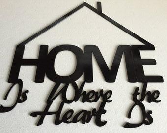 Metal home sign