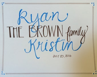Personalized Family Wall Hanging