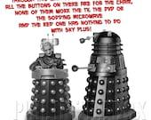 Dalek Card, Doctor Who card, Dalek dad birthday card, Doctor Who birthday  card, birthday card for him, funny birthday card