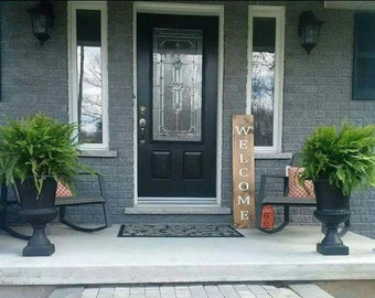 Welcome Wood Sign   Wood Sign   Porch Sign   Country Porch Sign   Porch Talker   Rustic Welcome Sign   Made In Canada