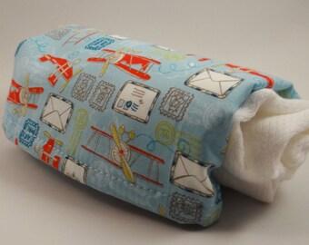 Take Flight! 100% Cotton Burp Cloths with Designer Fabric