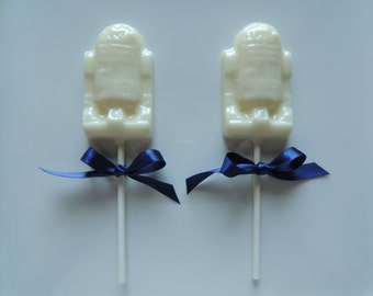 R2D2 Lollipops Star Wars Robot Birthday 8 Party Favors Candy
