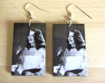 Decoupage Earrings - Rita Hayworth, Gilda