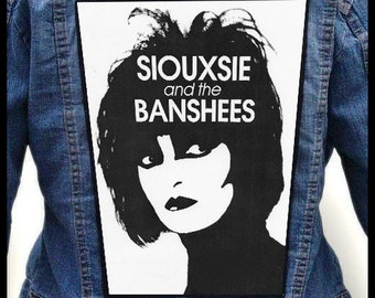 SIOUXSIE and THE BANSHEES --- Backpatch Back Patch / Bauhaus New Order Garbage Tones on Tail Cocteau Twins  The Fall   Wire