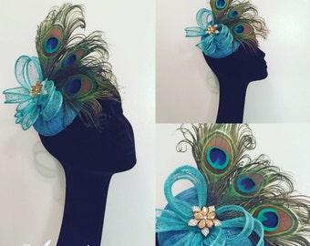 Turquoise Blue fascinator