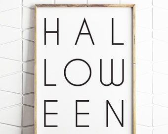Halloween wall art, instant download Halloween decor, Halloween printable, Halloween decor, Halloween wall prints