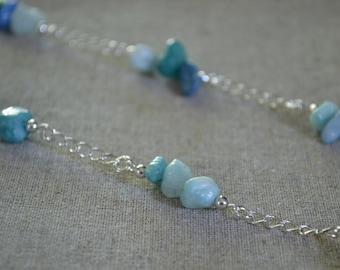 Quartzite Aqua Necklace