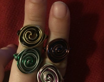 Harry Potter Wire Wrapped Rings