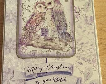 Cutesy owl christmas card