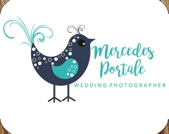 Photography Premade Logo Business Branding Wedding Photographer Pre-made Logo Design Photography Logo Bird Logo