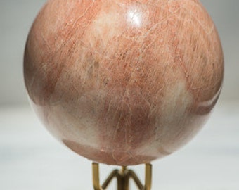 Large Peach Moonstone Sphere