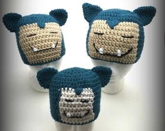 Crochet Snorlax Hat/Multi-Size