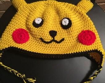 Pokemon inspired pikachu beanie