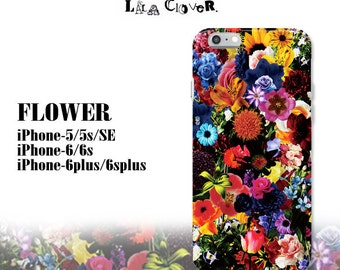 FLOWER iPhone-case Made in JAPAN/iphone 5 5 s iphone6 6 s iphoneSE iphone6plus6splusClear Case Plastic fashion kawaii