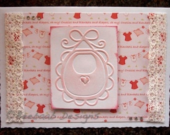 New Baby, Baby, handmade baby card/artwork