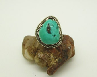 Vintage turquoise ring, turquoise ring, vintage ring, turquoise jewelry, ring size 9