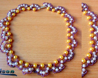 Elegant and simple beaded necklace