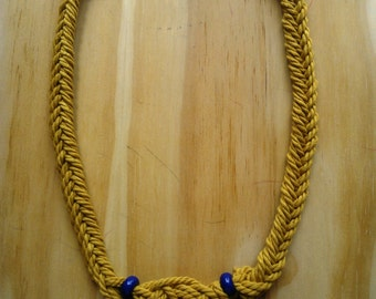 Mustard Navy Necklace
