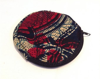 Red Printed Coin Purse