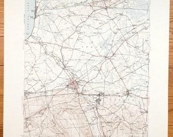 Antique Oneida New York And Oneida Lake 1946 Us Geological Survey Topographic Map