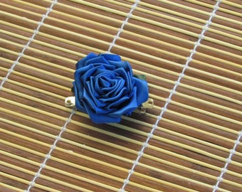 Kanzashi rose blue