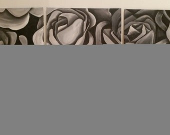 Grayscale rose 2