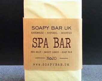 Sweet Lemon Spa Bar Salt Bar Natural Handmade Soap
