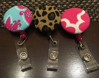 Handmade fabric badge reels