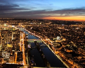 The City of Lights at Sunset