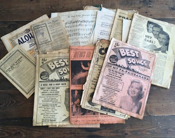 Collection of 25 Vintage Song Books