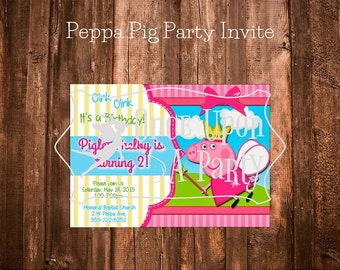 Peppa Pig Party Invite