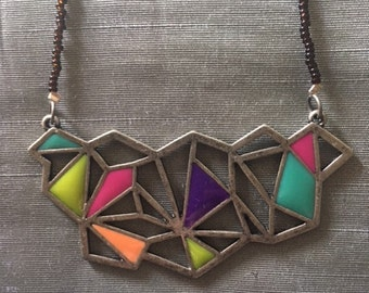 Colorful Geometry Necklace