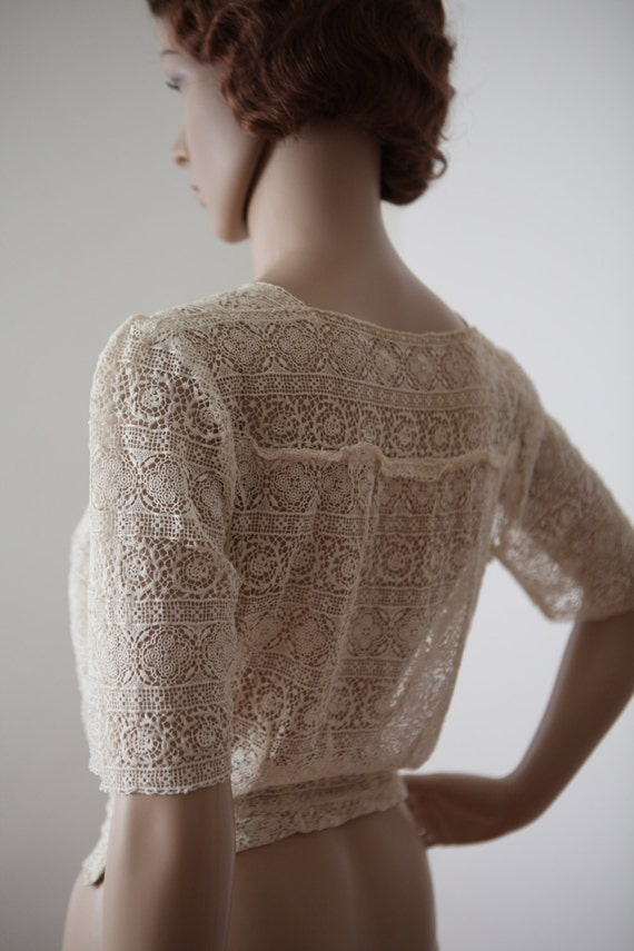 Womens Cream Lace Blouse 84